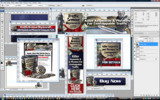 Thumbnail Minisite Template PSD - Traffic Armour Keywords