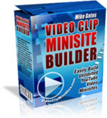 Product picture Video Clip Websites Builder - plr+free bonus