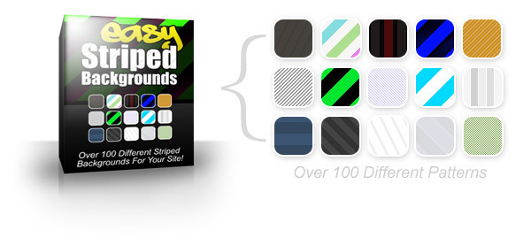 Product picture Easy Striped Backgrounds - MRR+free bonus