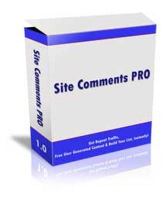 Product picture Site Comments Pro - Mrr+Free Bonus