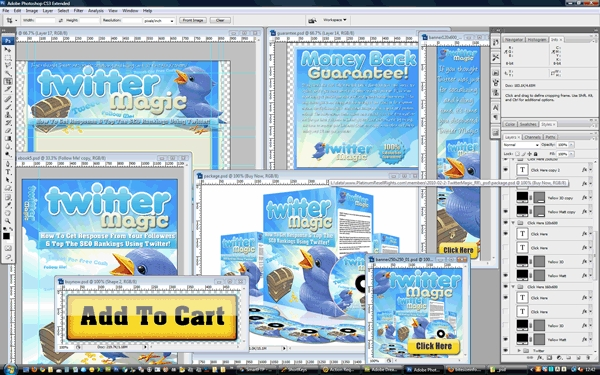Product picture Minisite Template PSD Graphic - Twitter Magic