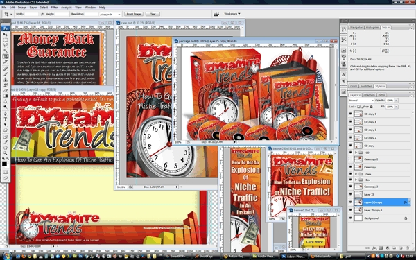 Product picture Minisite Template PSD Graphics - Dynamite Trends