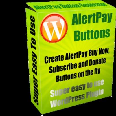Product picture WordPress AlertPay Button Generator - MRR+Free Bonus